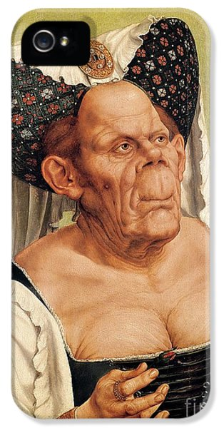 A Grotesque Old Woman IPhone 5 Case by Quentin Massys