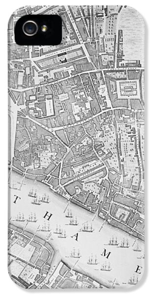 A Map Of The Tower Of London IPhone 5 Case by John Rocque