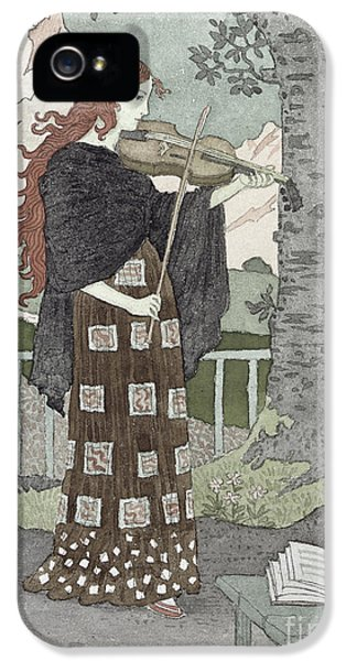 Violin iPhone 5 Case - A Musician by Eugene Grasset