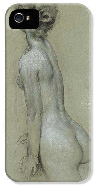 A Naiad In The Lament For Icarus IPhone 5 Case by Herbert James Draper