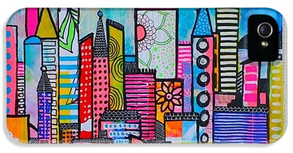 iPhone 5 Case - A New 12 X12 #cityscape #collage by Robin Mead