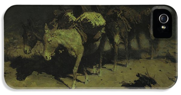 A Pack Train IPhone 5 Case by Frederic Remington