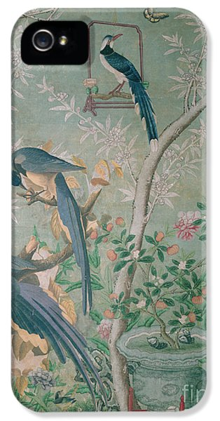 A Pair Of Magpie Jays  Vintage Wallpaper IPhone 5 Case by John James Audubon