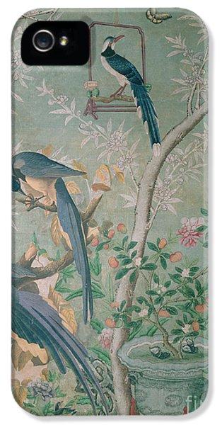 A Pair Of Magpie Jays  Vintage Wallpaper IPhone 5 Case by John James Audubon