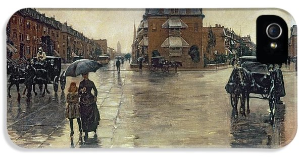 A Rainy Day In Boston IPhone 5 Case by Childe Hassam