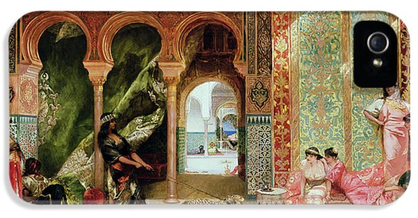 A Royal Palace In Morocco IPhone 5 Case by Benjamin Jean Joseph Constant