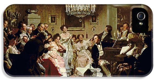 A Schubert Evening In A Vienna Salon IPhone 5 Case by Julius Schmid