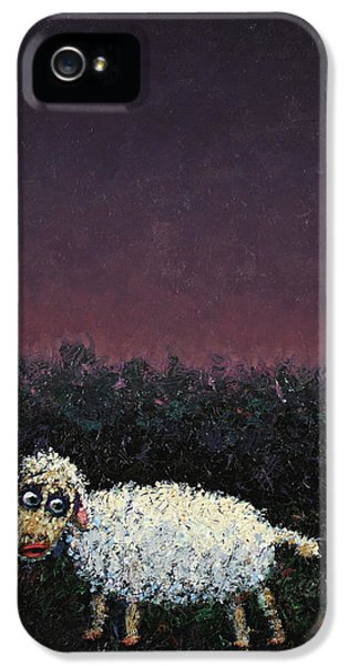 A Sheep In The Dark IPhone 5 Case by James W Johnson