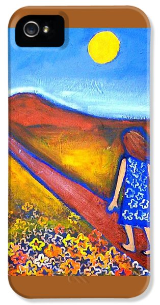 IPhone 5 Case featuring the painting A Sunny Path by Winsome Gunning