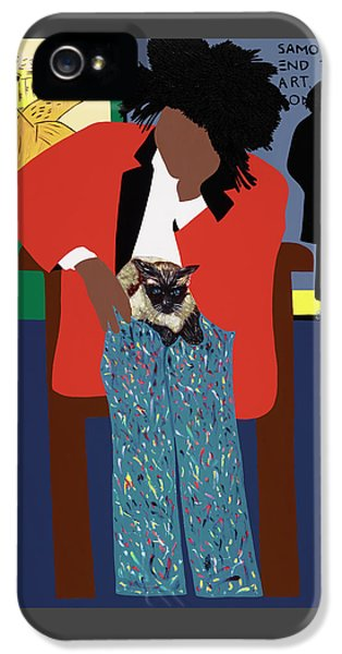iPhone 5 Case - A Tribute To Jean-michel Basquiat by Synthia SAINT JAMES