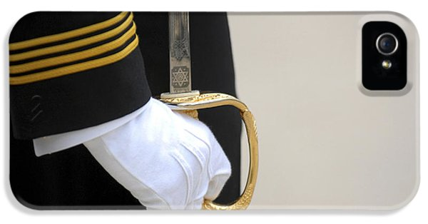 A U.s. Naval Academy Midshipman Stands IPhone 5 Case by Stocktrek Images