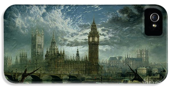 A View Of Westminster Abbey And The Houses Of Parliament IPhone 5 / 5s Case by John MacVicar Anderson