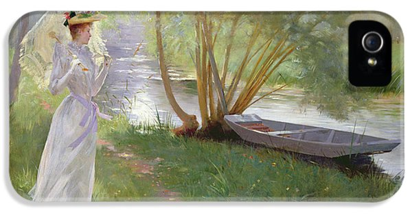 A Walk By The River IPhone 5 / 5s Case by Pierre Andre Brouillet
