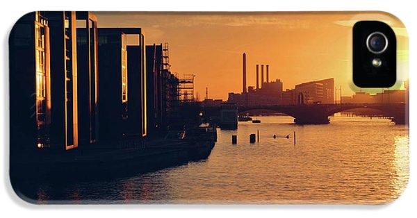 A Winter Sunset From Knippelsbro Bridge In Copenhagen  IPhone 5 Case