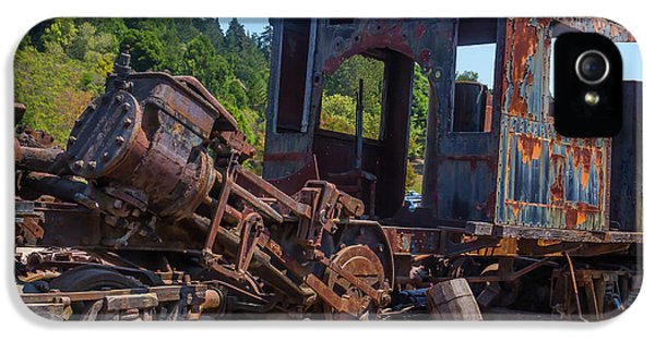 Abandoned Train Engine IPhone 5 Case by Garry Gay