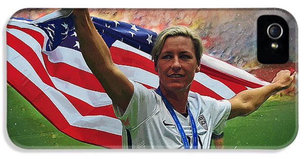 Abby Wambach Us Soccer IPhone 5 Case by Semih Yurdabak