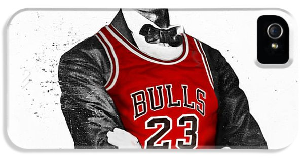 City Scenes iPhone 5 Case - Abe Lincoln In A Michael Jordan Chicago Bulls Jersey by Roly O