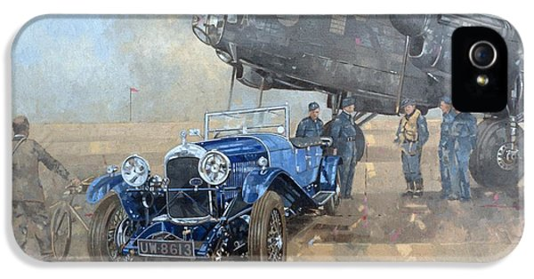 Able Mable And The Blue Lagonda  IPhone 5 Case by Peter Miller