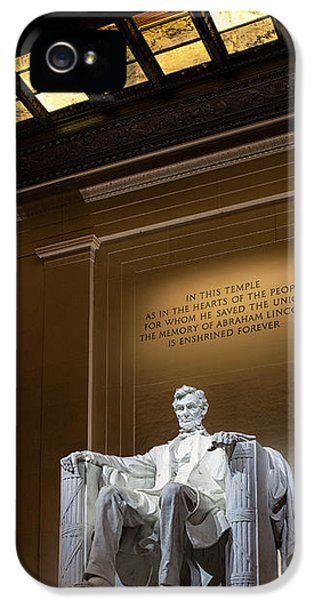 Abraham Lincoln IPhone 5 Case by Andrew Soundarajan