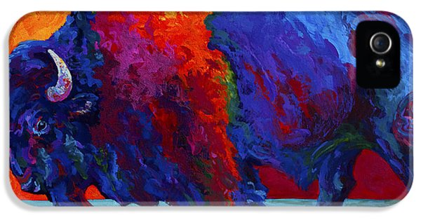 Abstract Bison IPhone 5 Case by Marion Rose