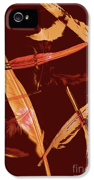 Abstract Feathers Falling On Brown Background IPhone 5 Case