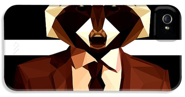 Abstract Geometric Raccoon IPhone 5 Case