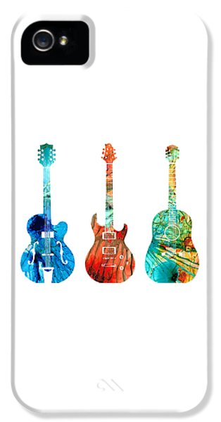 Music iPhone 5 Case - Abstract Guitars By Sharon Cummings by Sharon Cummings