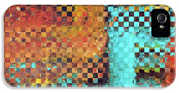 Abstract Modern Art - Pieces 1 - Sharon Cummings IPhone 5 Case by Sharon Cummings