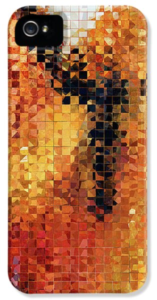 Abstract Modern Art - Pieces 8 - Sharon Cummings IPhone 5 Case by Sharon Cummings