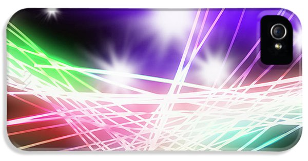 Abstract Of Stage Concert Lighting IPhone 5 Case by Setsiri Silapasuwanchai