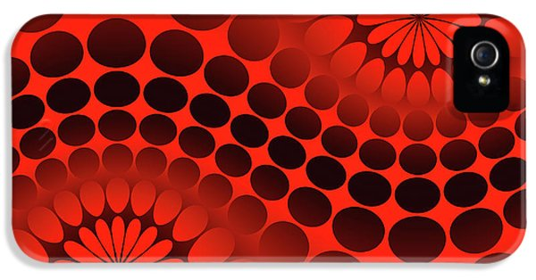 Abstract Red And Black Ornament IPhone 5 Case
