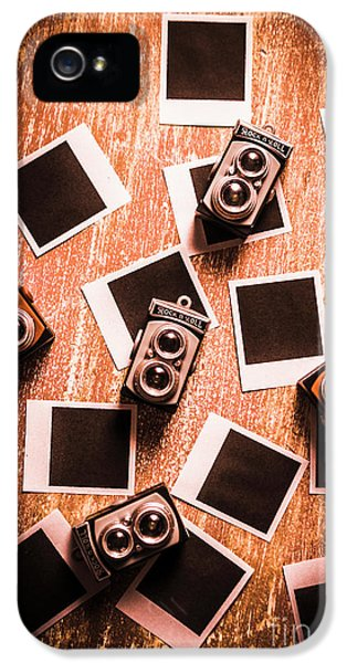 Abstract Retro Camera Background IPhone 5 Case by Jorgo Photography - Wall Art Gallery