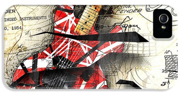 Guitar iPhone 5 Case - Abstracta 35 Eddie's Guitar by Gary Bodnar