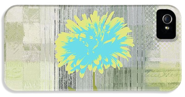 Flowers iPhone 5 Case - Abstractionnel - 29grfl3c-gr3 by Variance Collections