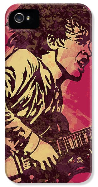 Ac/dc Pop Stylised Art Sketch Poster IPhone 5 Case by Kim Wang
