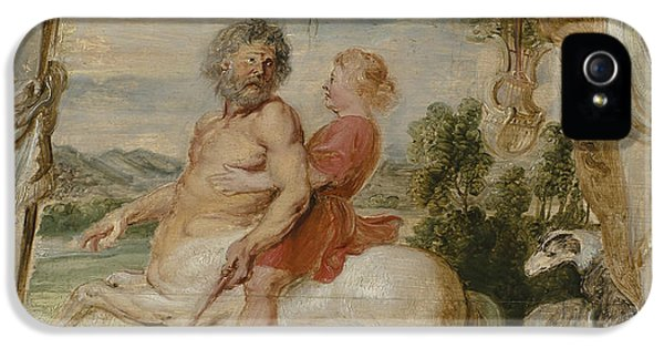 Centaur iPhone 5 Case - Achilles Educated By The Centaur Chiron by Peter Paul Rubens