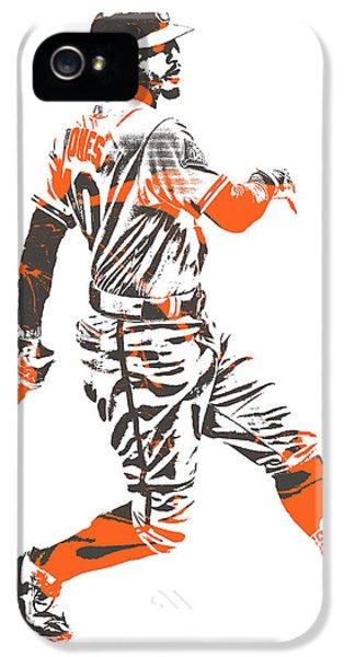 Oriole iPhone 5 Case - Adam Jones Baltimore Orioles Pixel Art 11 by Joe Hamilton