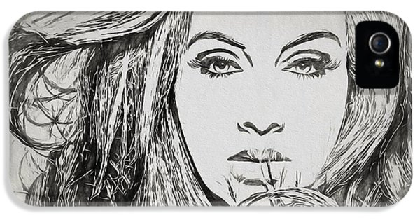 Adele Charcoal Sketch IPhone 5 Case