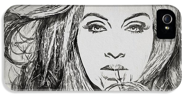 Adele Charcoal Sketch IPhone 5 Case by Dan Sproul