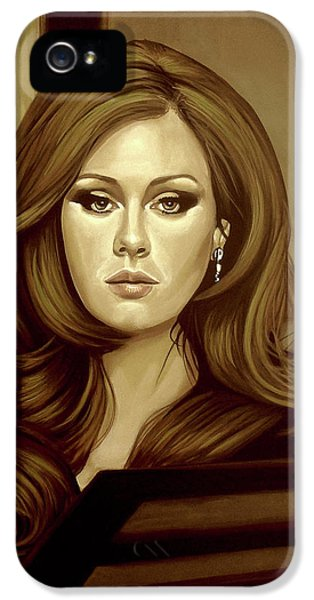 Adele Gold IPhone 5 Case by Paul Meijering