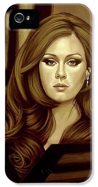 Adele Gold IPhone 5 Case by Paul Meijering