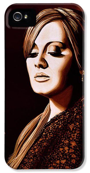 Adele Skyfall Gold IPhone 5 Case by Paul Meijering