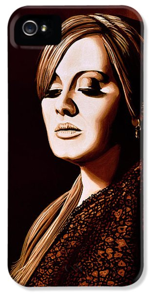 Rhythm And Blues iPhone 5 Case - Adele Skyfall Gold by Paul Meijering