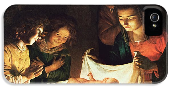 Adoration Of The Baby IPhone 5 Case by Gerrit van Honthorst
