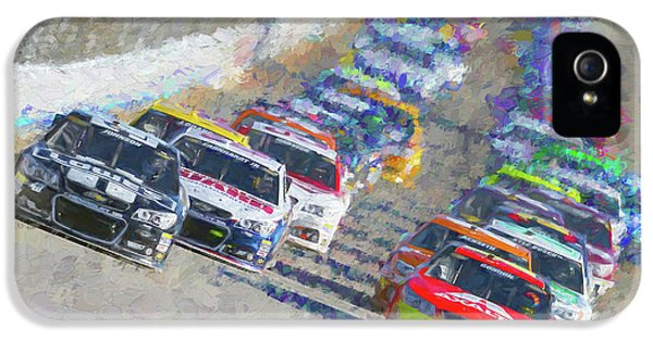 Nascar Racing IPhone 5 Case by Garland Johnson