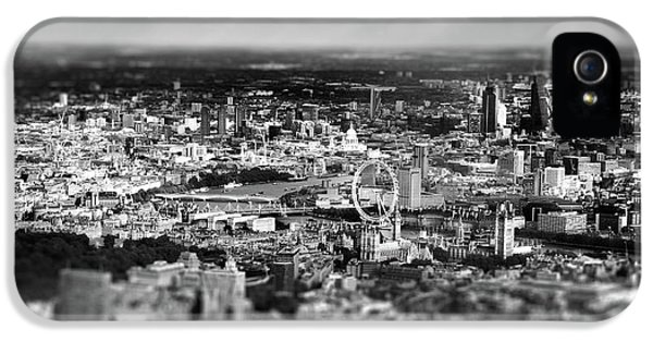 Aerial View Of London 6 IPhone 5 Case by Mark Rogan