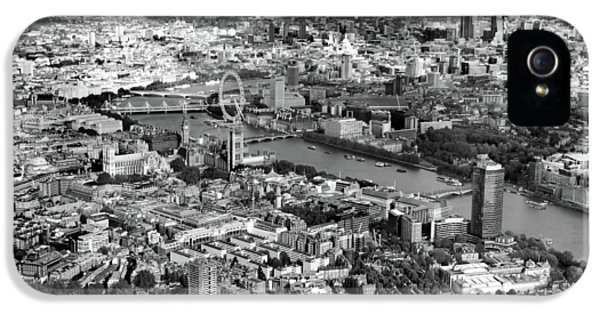 White iPhone 5 Case - Aerial View Of London by Mark Rogan