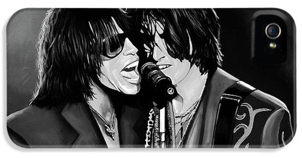 Aerosmith Toxic Twins Mixed Media IPhone 5 Case