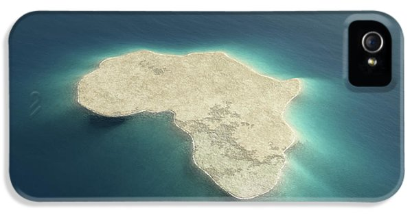 Africa Conceptual Island Design IPhone 5 Case
