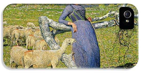 Afternoon In The Alps IPhone 5 Case by Giovanni Segantini